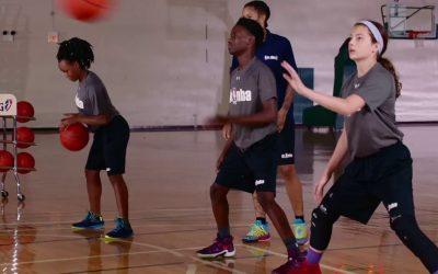 Pound Between and Pass Drill