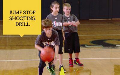 Jump Stop Shooting Drill